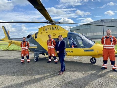 Andrew Bridgen and Leicestershire Air Ambulance